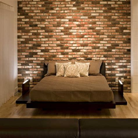 wall   bed brick headboard