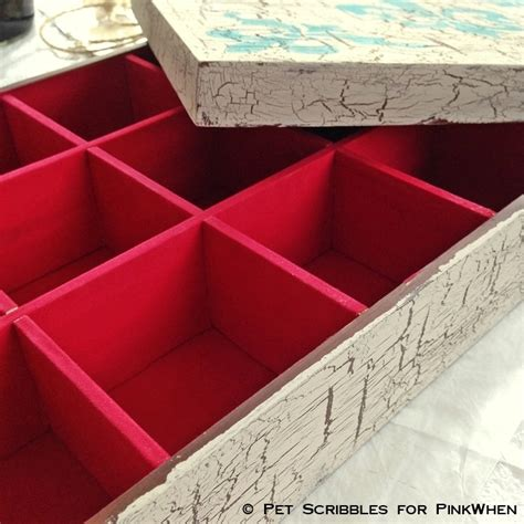 big box open during new year diy decor shabby box pinkwhen