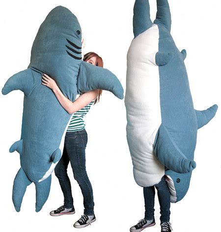 big shark pillow chumbuddy is a plush ohgizmo