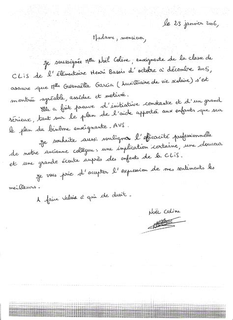 Exemple De Lettre De Motivation Avs Modele Lettre De Recommandation Avs Document