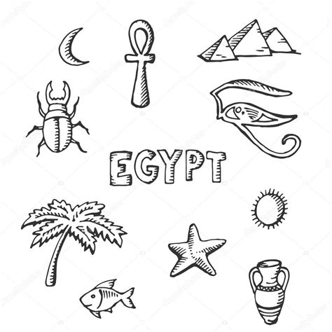 imagenes de simbolos hindues colecci 243 n de dibujo de s 237 mbolos egipcios vector de stock