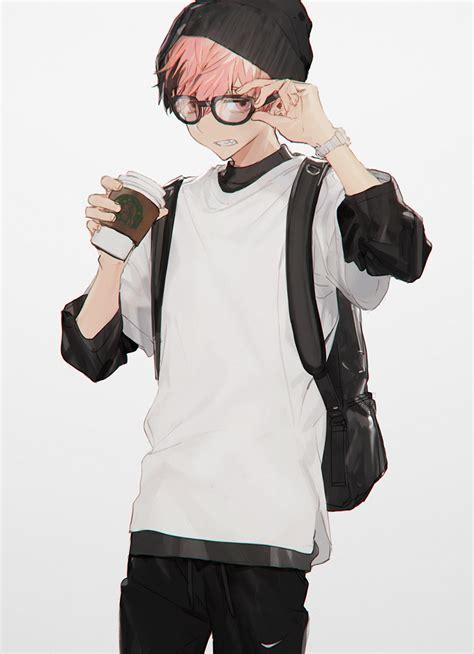 anime boy anime boy coffee and glasses by tomo q0 k u n s t