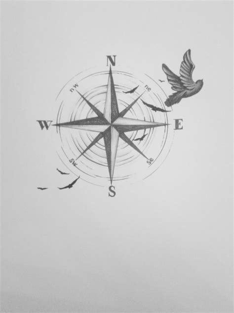 tattoo compass bird tattoo design compass birds freedom dream live all