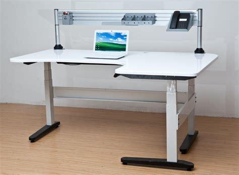 electric height adjustable desk electric adjustable height desk homefurniture org