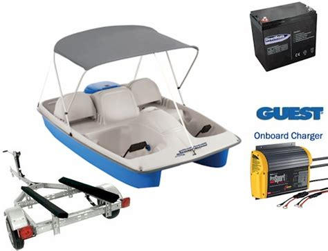 asl electric pedal boat water wheeler asl electric pedal boat package 4