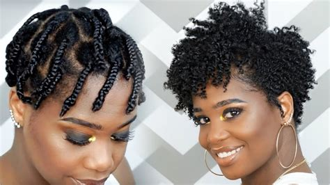 how to do a braid out on tapered natural hair video