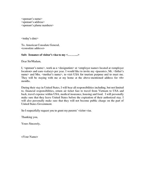Support Letter For Canadian Visitor Visa Letter Of Support For Tourist Visa Application
