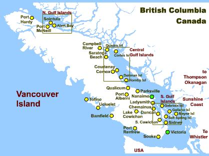 map of canada vancouver island caro in canada