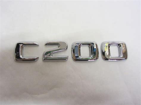 Tempelan Emblem Badge Mini Mercedes new mercedes c200 class badge letters emblem cdi avantgarde chrome ebay