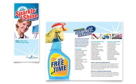 house cleaning maid services flyer ad template design
