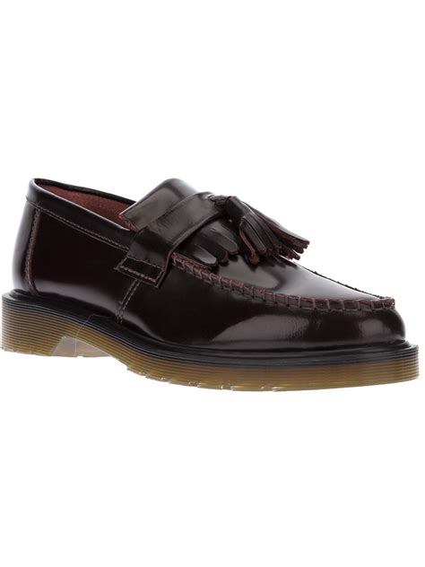 dr martens loafers dr martens adrian loafer in black cherry lyst