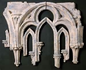 Architectural Wall Decor by Arched Window Tracery Fragment Wall Decor 2 Pc