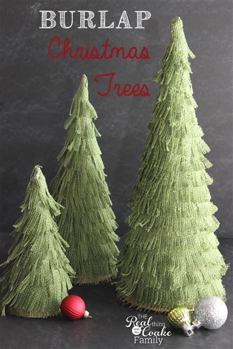 diy burlap christmas trees tip junkie
