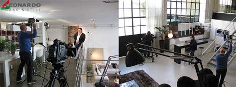 leonardo e stili interni d autore riprese televisive per l emittente televisivo leonardo