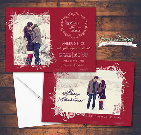 say merry christmas and save the date jeneze designs