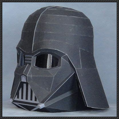 Darth Vader Mask Papercraft - darth vader papercraft lord of the sith