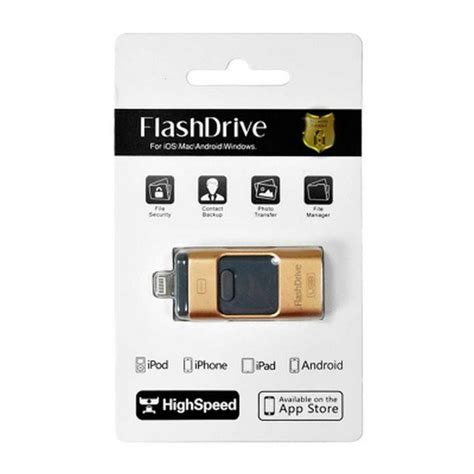 Iflash Drive Otg For Ios And Android 32gb Gold jual iflash drive otg for ios and android 8gb di lapak koncept digital shop konceptds
