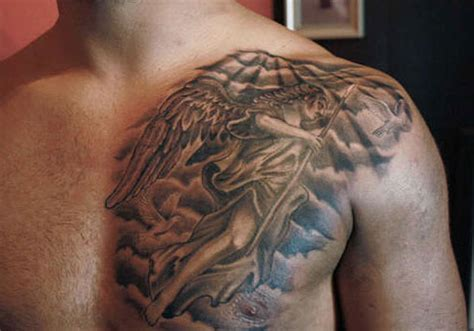 30 pleasant angel tattoos for men creativefan
