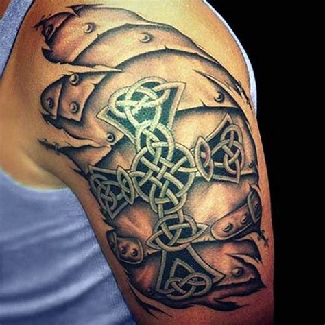 3d celtic cross tattoos 3d cross for shoulder for more visit http
