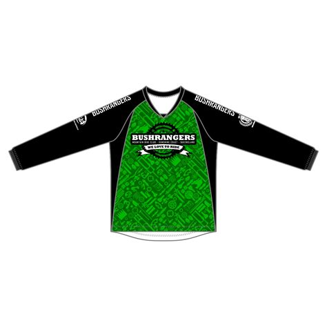 Jersey Dh Dreamcather Green bushrangers mtb mens sleeve enduro dh jersey green black blackchrome