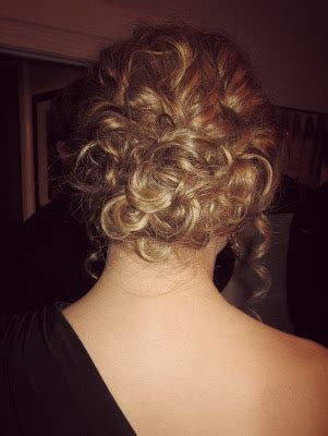 bridesmaid hairstyles useing a curling wand pinned up pretty curly prom updo