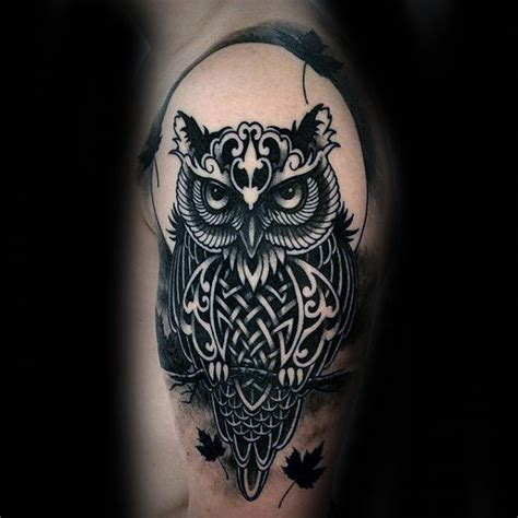 owl tribal tattoo tribal owl tattoos for