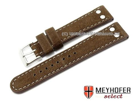 Click T Lalia Buckle Velvet band tarragona 22mm brown buffalo leather
