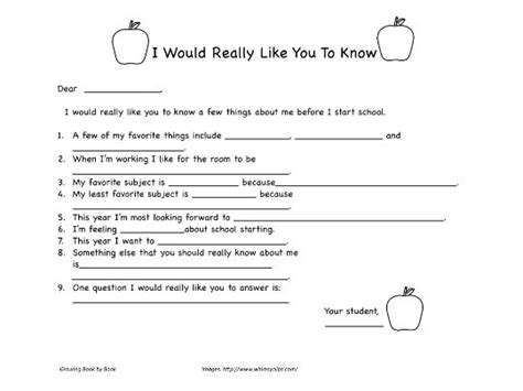 Writing Activities Back To School Letter