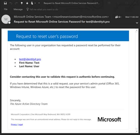 reset microsoft online services password self service password reset customization azure active