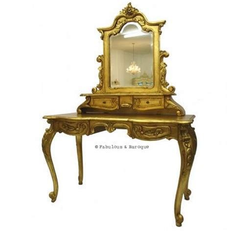 Gold Vanity Table by Modern Baroque Furniture And Interior Design Rococo