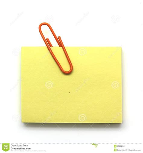 paper clip and notepad on white stock images image 33864634