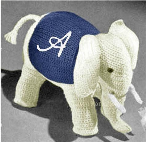 vintage elephant pattern crochet toy pattern vintage 70s crochet elephant toy pattern