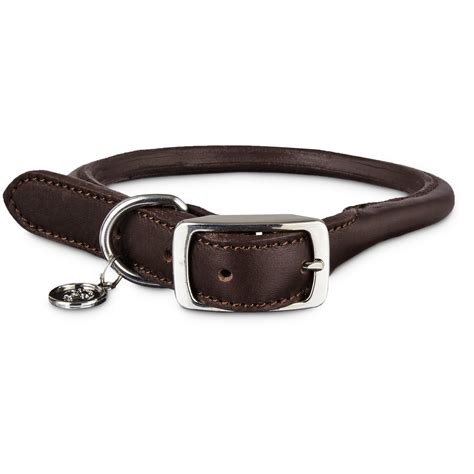 collars petco bond co mahogany rolled leather collar petco
