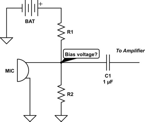 condenser microphone resistance measurement calculate the appropriate bias voltage and resistor of a condenser microphone