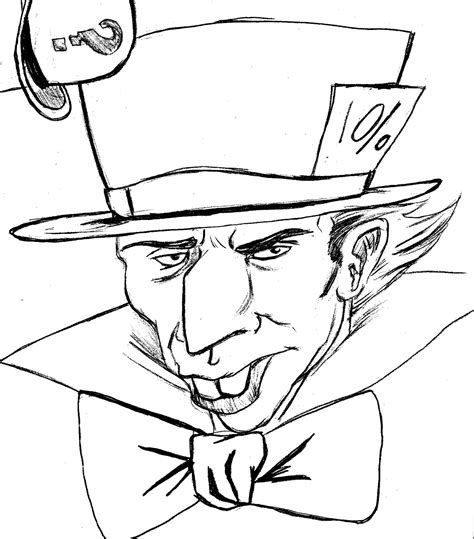 free coloring pages of mad hatter hat
