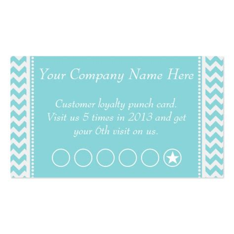 business discount card template blue chevron discount promotional punch card sided