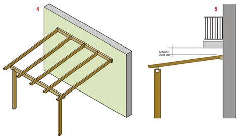 tettoia addossata pronto portico sistema per strutture addossate