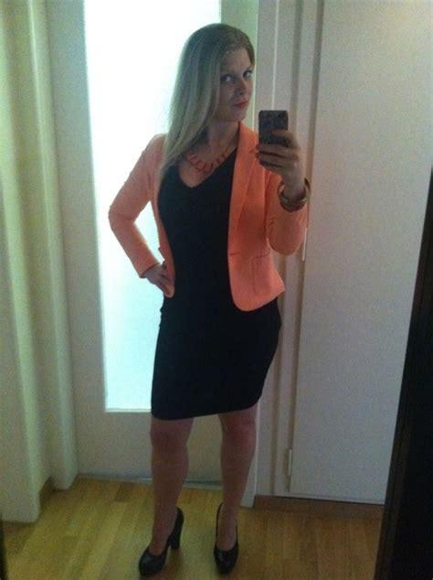 Black Dress Dress Black Dress Blue Dress Blazer black dress with orange blazer matching accessories and black heels lookbook work clothes