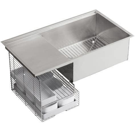 kohler stages stainless steel kitchen sink 3760 na
