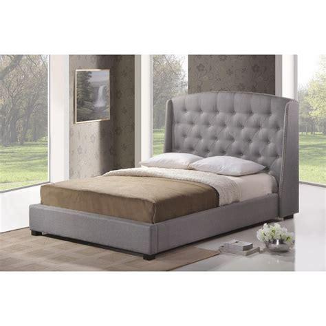 modern king platform bed ipswich gray linen modern platform bed king size see white