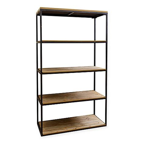 bed bath and beyond bookcase abbyson living 174 kirkwood 4 shelf bookcase in natural bed