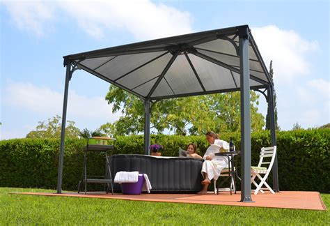 gartenpavillon metall 3x3 10ft x 10ft palermo 3000 gazebo w polycarbonate panels