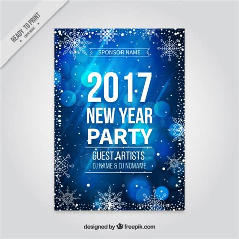 new year poster images shiny blue new year poster vector free
