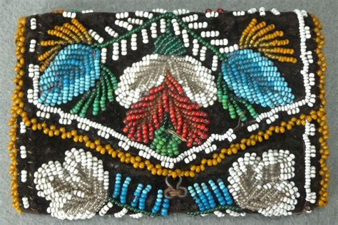 indian bead iroquois indian beadwork wallet last quarter 19th c
