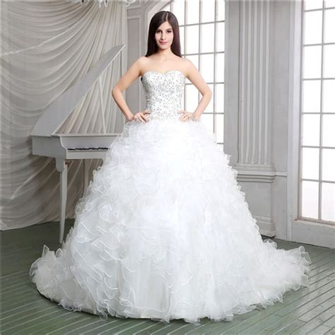 ball gown strapless embroidery organza ruffle corset