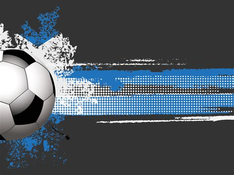 Football Or Soccer Ball Powerpoint Templates Aqua Cyan Black Blue Silver Sports Free Soccer Powerpoint Template