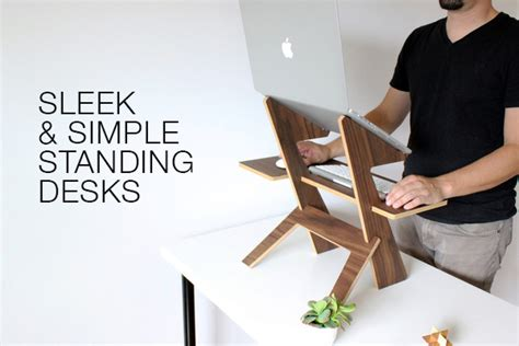 sleek simple standing desks agency addicts
