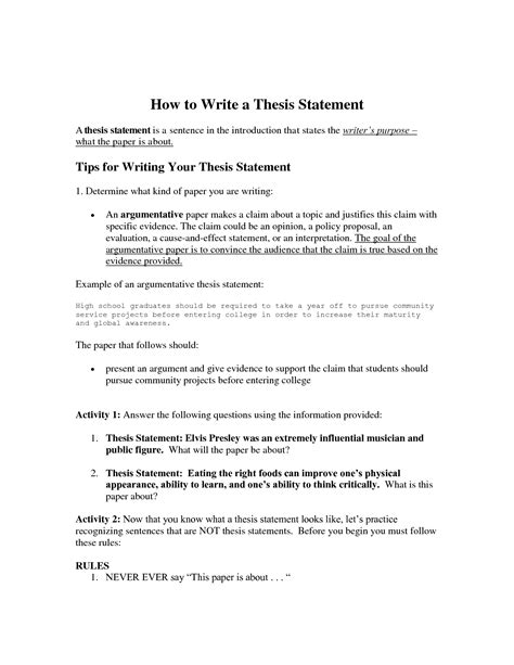 dissertation statement write a thesis