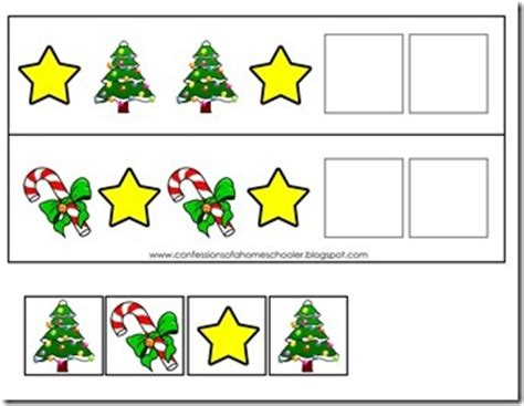christmas pattern games preschool christmas activities confessions of a homeschooler