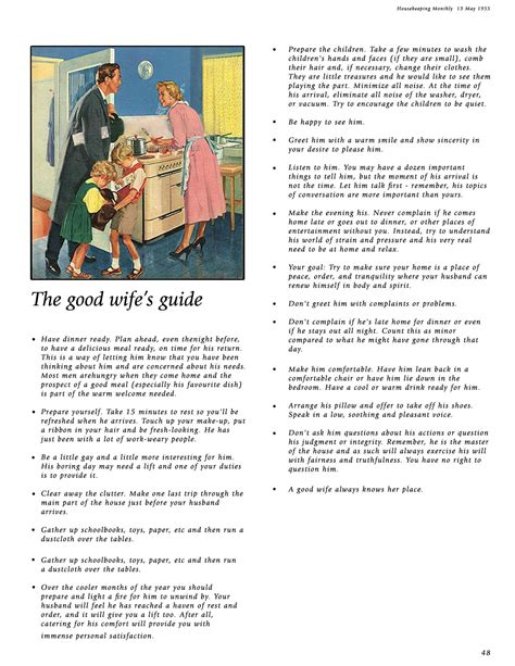 good housewife guide 1950s housewife guide bridal shower ideas pinterest